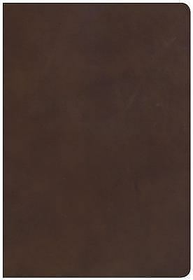 NKJV Super Giant Print Reference Bible, Brown Genuine Leather, Indexed -  Holman