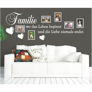 Wandtattoo Spruch Familie Leben Liebe Bilderrahmen Foto Wandsticker Aufkleber 4 Ebay
