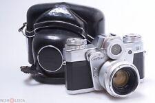 ✅ ZEISS CONTAREX I BULLSEYE 35MM SLR CAMERA WORKS 100% 50MM 2 PLANAR LENS & CASE