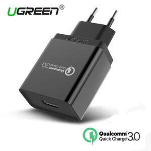 Ugreen-Cargador-Rapido-QC-3-0-18W-Quick-Charger-para-HTC-10-LG-G6-Samsung-S8-S7