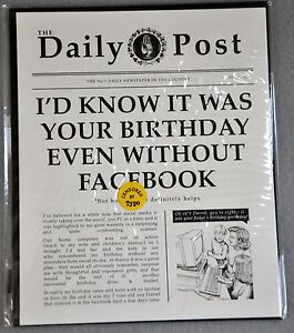 Image Is Loading Birthday Greeting Card Friend Funny Newspaper Facebook Vintage