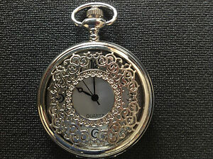 10 X Pocket Watch No.7 Silver Coloured Half Hunter,filigree Cover,collectable Im Sommer KüHl Und Im Winter Warm