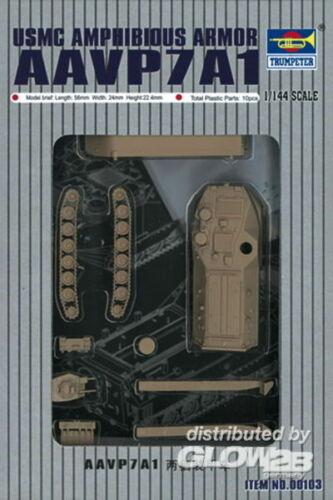 Neu Trumpeter 00103-1:144 AAVP7A1 Amphibienfahrzeug