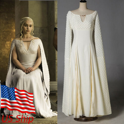 Cosplay Daenerys Targaryen Qarth Dress Game Of Thrones Mother of Dragon Costumes