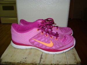Details about Nike Womens Zoom Fit Agility Training Sneakers Sz 9.5 684984 603 Magenta Orange