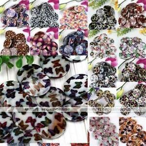 Strand-Natural-MOP-Shell-Flower-Flat-Coin-Round-Loose-Bead-For-Charm-Jewelry-DIY