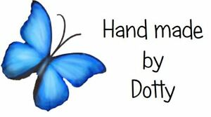 65 Personalised Mini Address labels Handmade etc   Pretty Blue Butterfly A