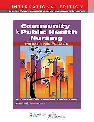 1 of 1 - Community & Public Health Nursing: Promoting the Public's Health by Cherie...