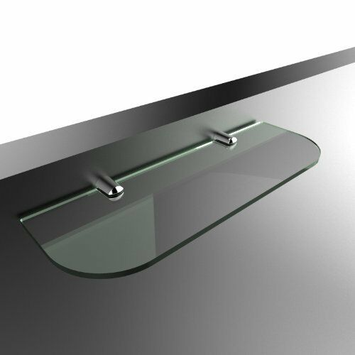Glass Shelf Satin 40cm x 12cm 6mm Thick with Rounded Corners