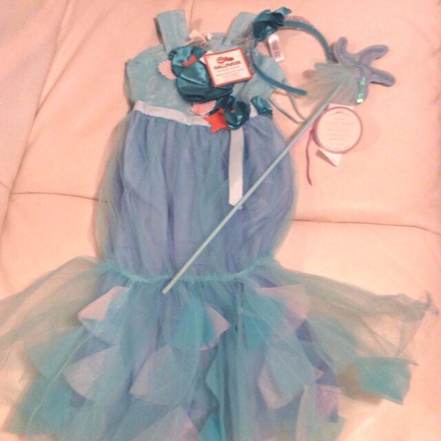 Pottery Barn Kids Aqua Tulle Mermaid Dress Crown Amp Wand