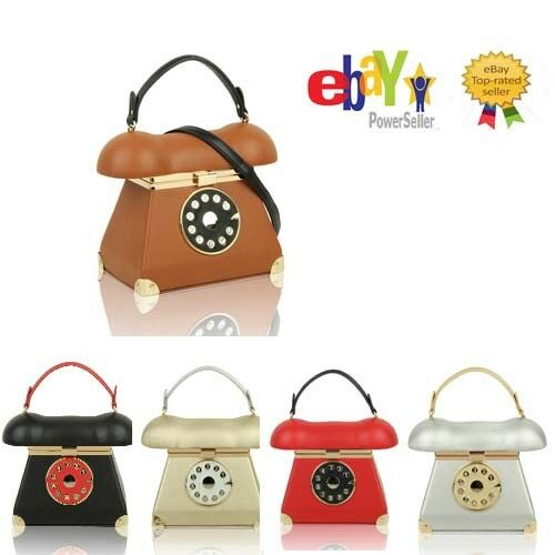 Uk 3D Ladies Telephone Shaped Top-Handle Handbag//Girls Cute Style Shoulder Bag