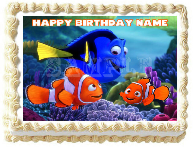 FINDING NEMO Edible Birthday Cake Topper Frosting Icing 1//4 Sheet