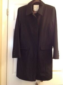 a1c9cc09f4a Image is loading Larry-Levine-Womens-Size-Medium-Sport-Black-Trench-