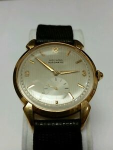 vintage movado 18k yellow gold 17 jewels automatic mens watch image is loading vintage movado 18k yellow gold 17 jewels automatic