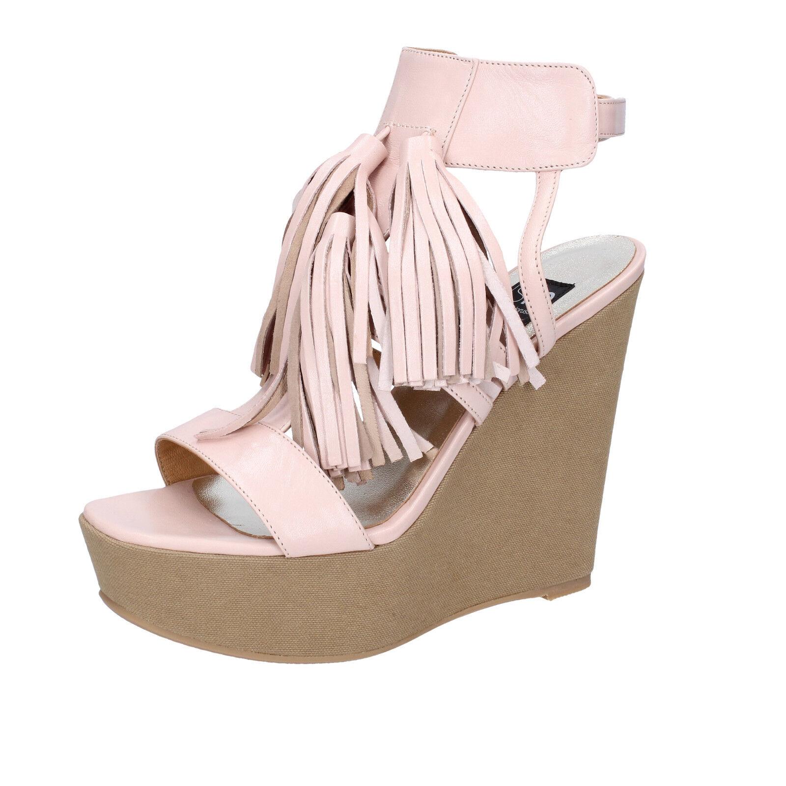 scarpe donna ISLO cipria ISABELLA LORUSSO 39 EU sandali rosa cipria ISLO pelle BZ331-E 4b2cf1