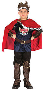 Boys Red Dragon Dinosaur Medieval Halloween Fancy Dress Costume Outfit 6-10years