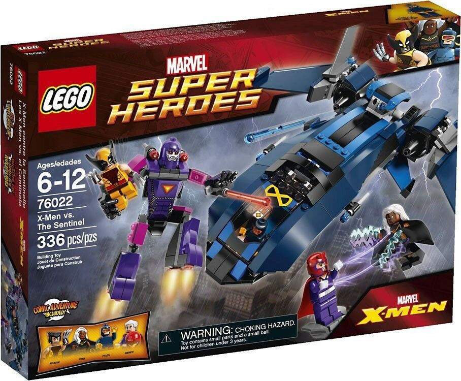 Lego Marvel Super Heroes 76022 X-Uomo vs. The Sentinel Set NIB Sealed Retirosso