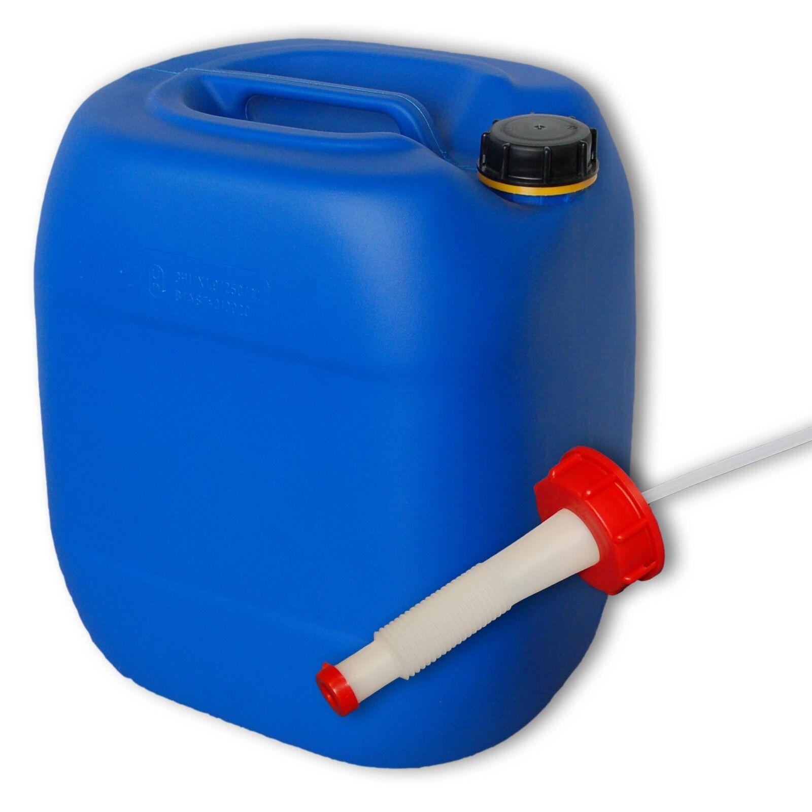Bidon plastique 30 L blue DIN 61+1 Bec verseur flexible Alimentaire (22027+020)