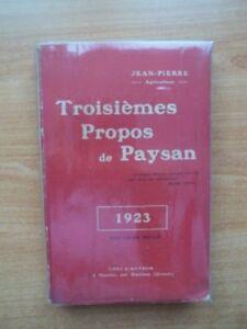 Troisiemes Propos De Paysan 1923 Pweu4tyc-07175809-441122158