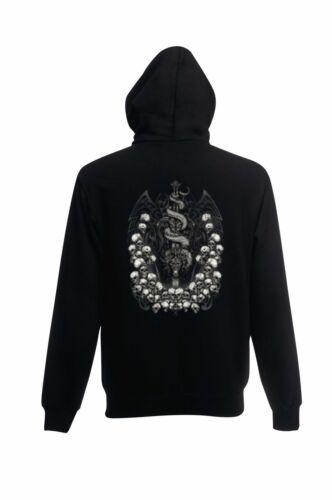Sweatshirt Jacke Biker ,Gothik-/& Tattoomotiv Modell Skull Dragon Sword