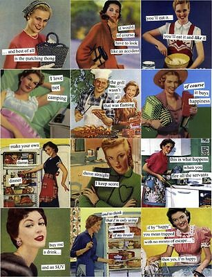 FUNNY HOUSEWIVES MAGNETS-SO RETRO AND SO COOL!!*AWESEOME AND COLLECTIBLE GIFTS