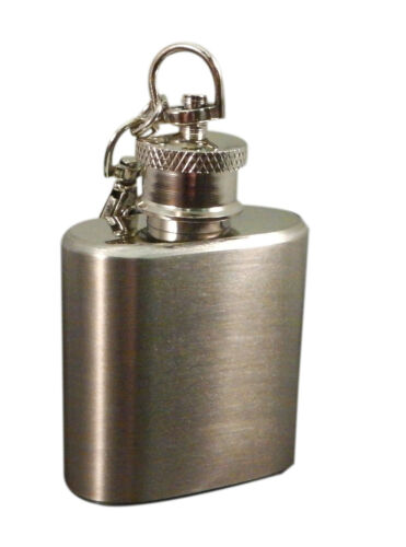 Incisione Personalizzata Mini Fiaschetta da Tasca Portachiavi con Nero
