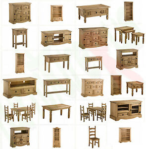Image Is Loading Corona Mexican Solid Pine Furniture Dining Amp Living