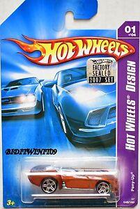 Hot Wheels 2007 Hw Design Pony-up # 01/04 Orange Usine Scellé W+ Grandes VariéTéS