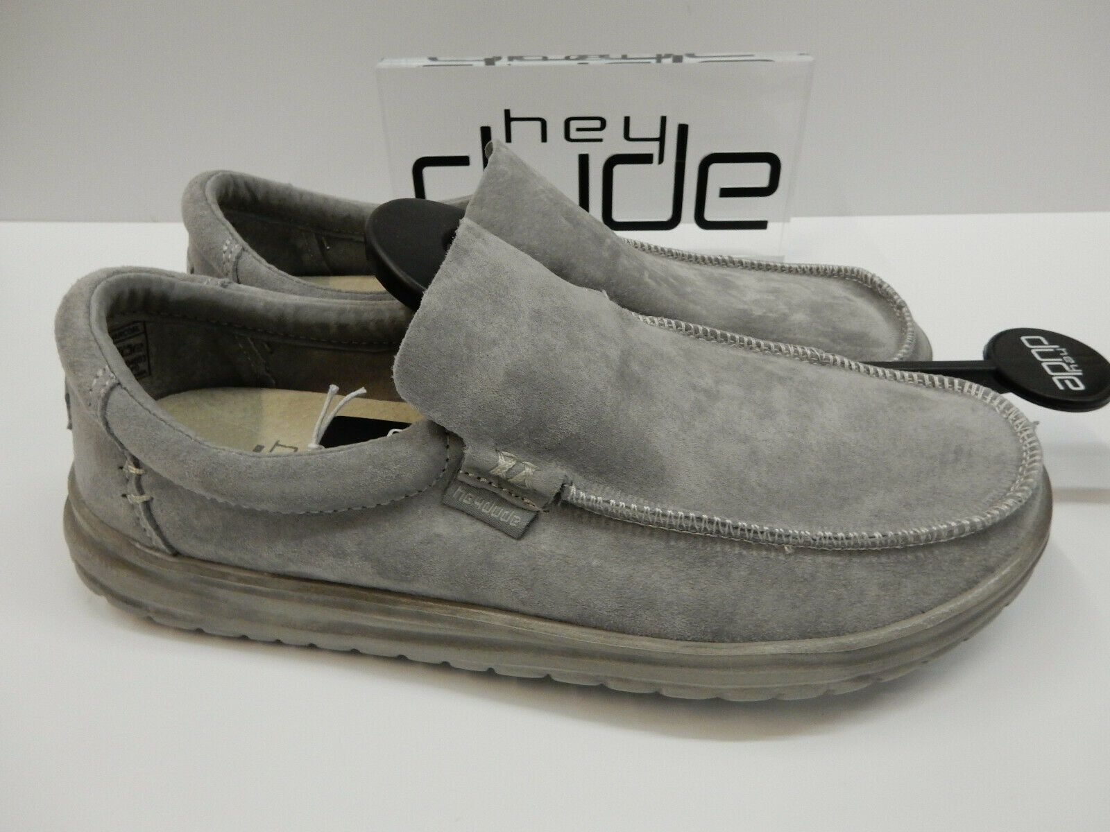 Hey Dude Mens Mikka Suede Charcoal Dimensione 13