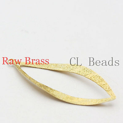 14pcs Raw Brass Earring Component - Tear Drop - Stardust 41x17mm (1867C-U-35)