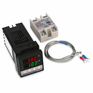 Details about REX-C100 PID Temperature Controller+K Thermocouple 0-400℃+40A  Solid State Relay