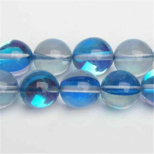 Round Spectrolite Crystal Glass Loose Spacer Beads DIY Making 6mm 8mm 10mm 12mm
