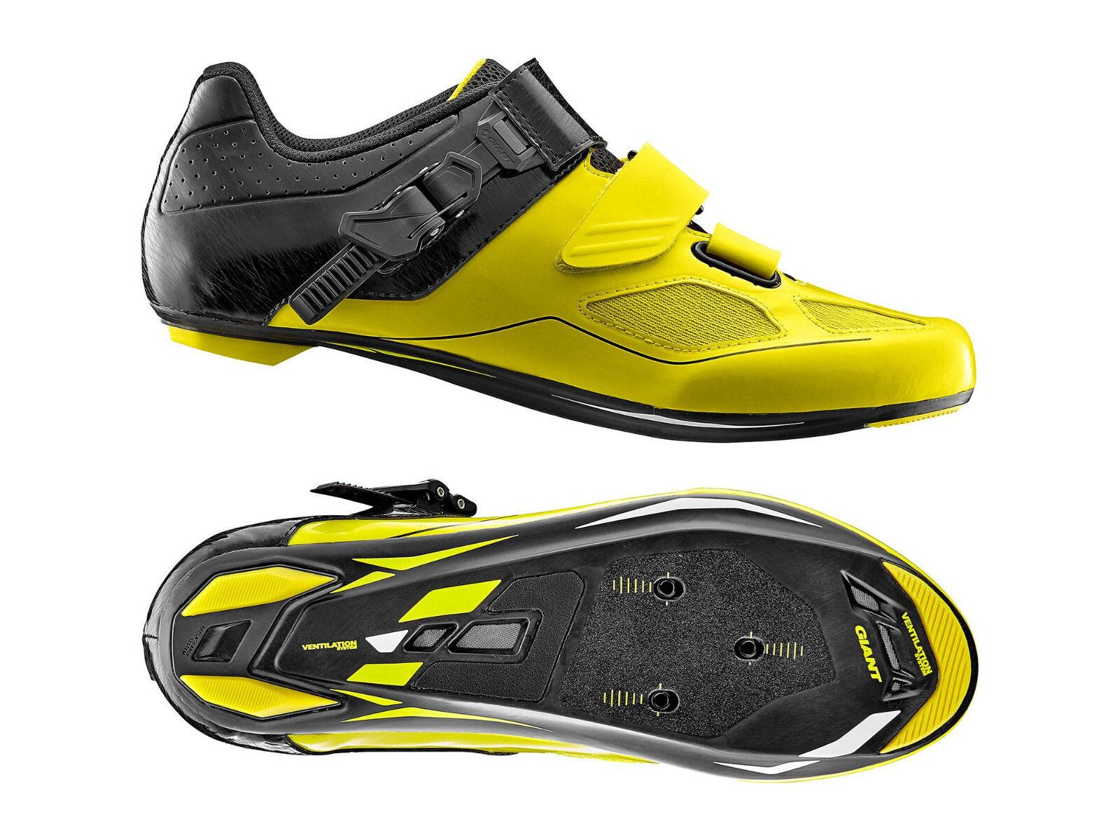 Schuhe Farbe Radsport GIANT PHASE Farbe Schuhe Schwarz-gelb Größe 45 1b491b
