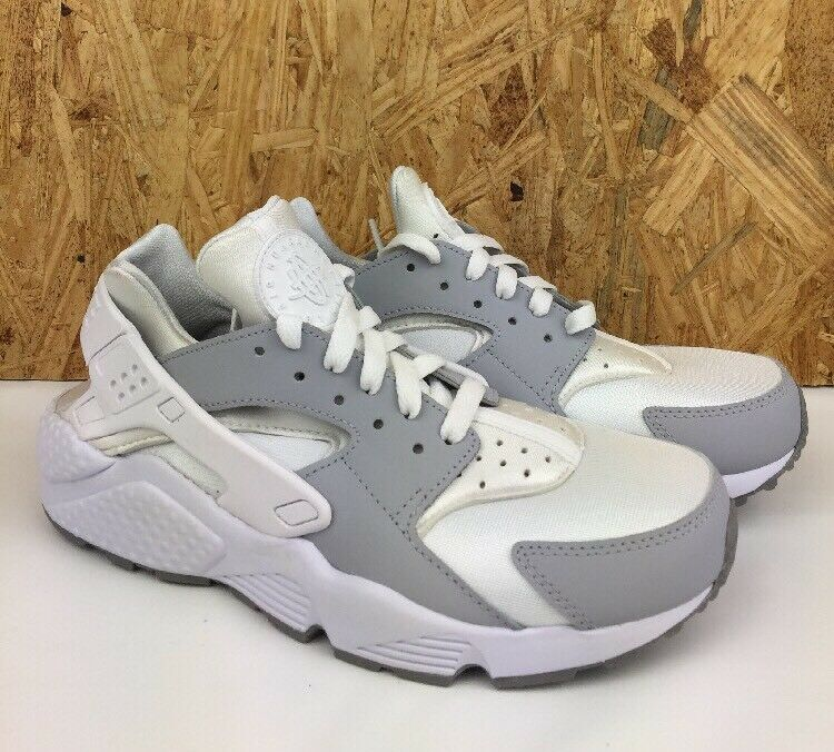 Nike ID Air Huarache Women's Size 7.5  Shoes White Gray Lifestyle