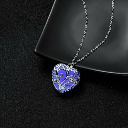 Hot Glowing Magic Charm Locket Glow In The Dark Pendant Necklace Steampunk Gifts