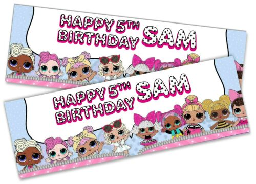 x2 Personalised Birthday Banner LOL Surprise Children Kids Party Decoration Gift