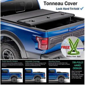 Fits 2019 2020 Dodge Ram 1500 Solid Hard Tri Fold Tonneau Cover 5 7ft Short Bed Ebay