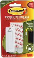 3M COMMAND SAWTOOTH HOOK  POSTER HANGING STRIPS  17040 PICTURE PRINT FRAME ART