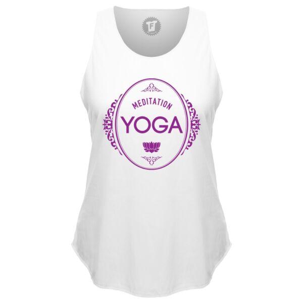 FABTEE – Meditation Yoga Om Shanti Loose Tank Top runder Bund Sport Shirt Frauen