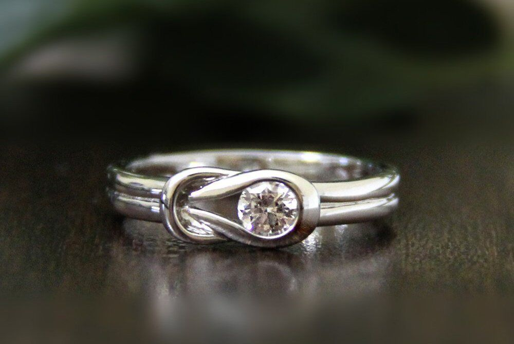 0.25 Ct Unique Brilliant Cut Solitaire Engagement Wedding Ring In 9K White gold