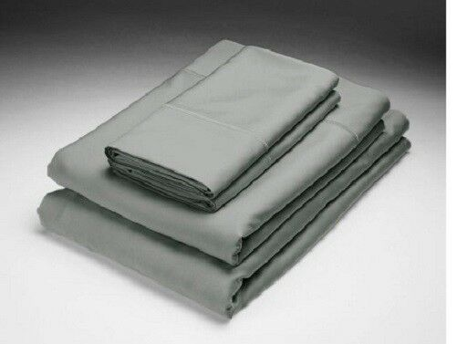 NEW Home Source schwarz PEARL QUEEN Bed 250 TC Bamboo Flat & Fitted Sheets Set
