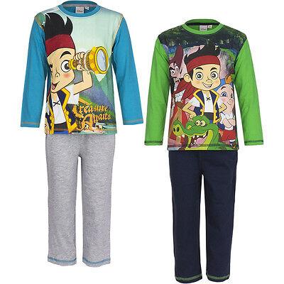 Pyjama Schlafanzug Jungen Jake Nimmerland Piraten Weiß Blau 98 104 110 116 #51