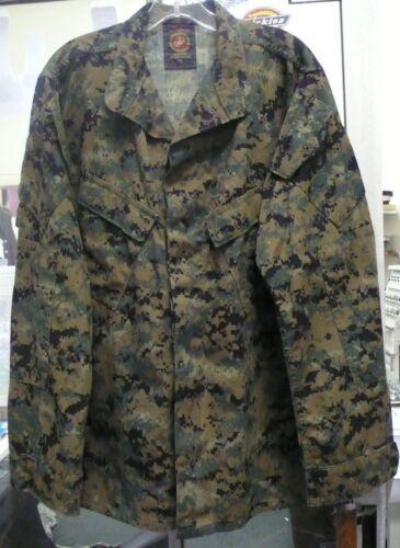 USMC MARINE CORPS WOODLAND MARPAT MCCUU BLOUSE SHIRT USED Large X-Long