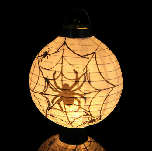 Holiday Party Decoration Scary Halloween LED Paper Pumpkin Hanging Lantern DIY