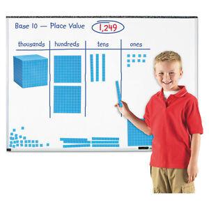 "Learning Resources Giant Magnetic Base Ten Set 6.75""L x 6.75""H Blue LER6366"