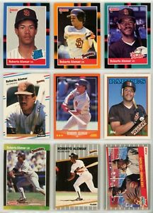 ROBERT-ALOMAR-1988-2004-Lot-of-100-Donruss-Fleer-Topps-Upper-Deck-NO-DUPS