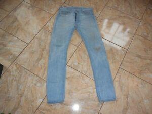 Levis H3373 W30 513 Con Jeans Azzurro difetti FqdqB87