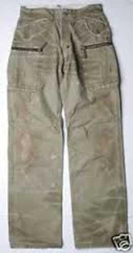 PRPS Khaki Green Cotton Vintage Cargo Pants (32)P37P06C