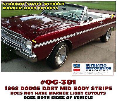 QG-386 1973-74 DODGE DART SPORT MID BODY SIDE STRIPE KIT