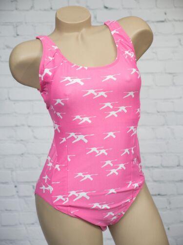 M/&S Pink /& White Flying Birds Costume Da Bagno Taglia 12 14 22 Supporto Busto SEGRETA NUOVO
